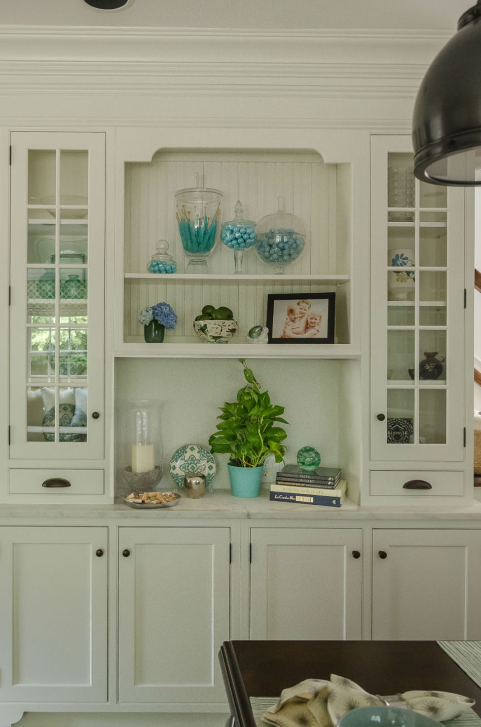 Kitchen Cabinet Blue And White Design