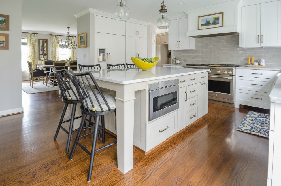 White Kitchen Island Verve Design