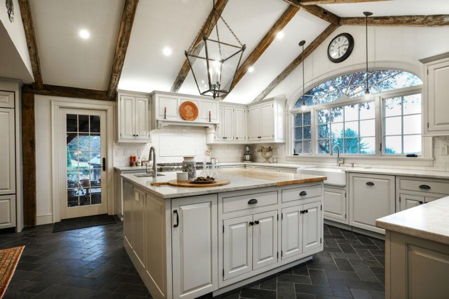 White Antique Kitchen By Verve Design