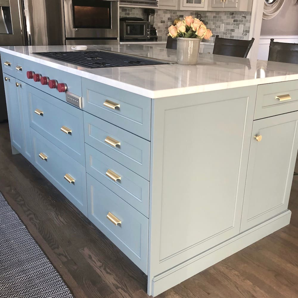 Kitchen island custom cabinetry