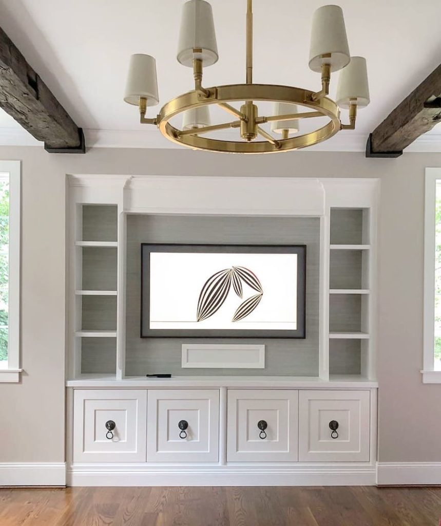 Custom Media Built-in Cabinet for Family room