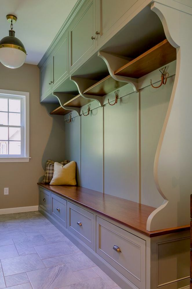 Mudroom built-in cabinet
